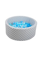 Grey white dots - blue/blue