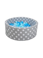 Grey white stars - blue/blue/transparent