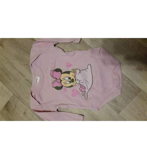 Mädchen Baby Body langarm Disney Minnie Mouse Gr.62-68