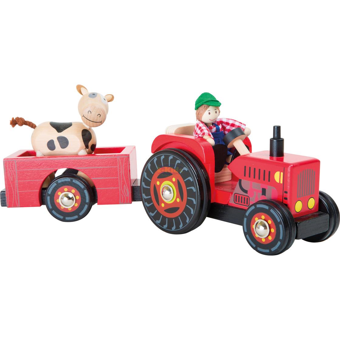 +++Legler Traktor mit Anhänger++ Holzspielzeug Bauernhof+++